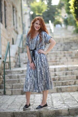 שמלת ג'ינגר זברה
