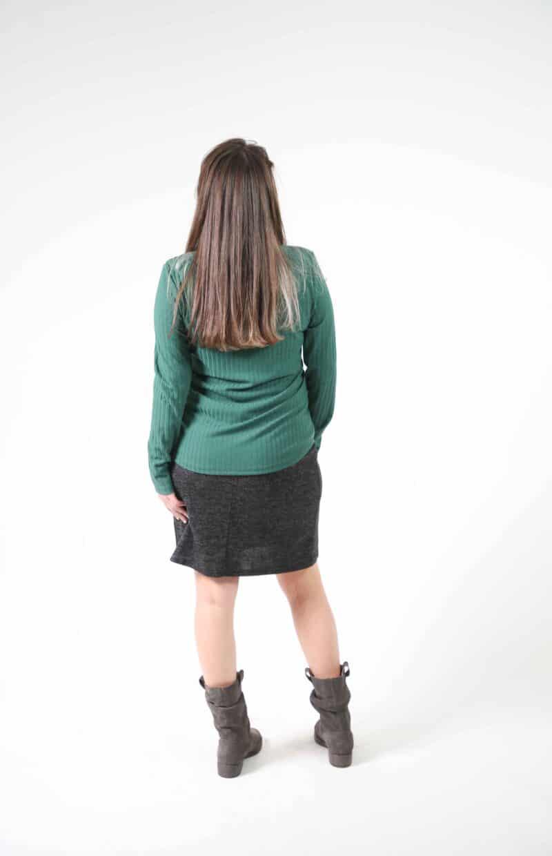 חצאית ישרה אפור כהה